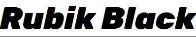 Rubik-Black-Italic