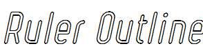 Ruler-Outline-Italic