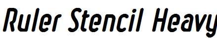 Ruler-Stencil-Heavy-Italic