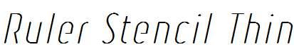 Ruler-Stencil-Thin-Italic