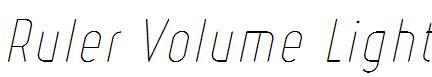 Ruler-Volume-Light