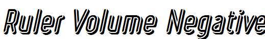 Ruler-Volume-Negative-Bold-Italic