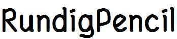 RundigPencil-Bold
