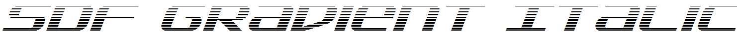 SDF-Gradient-Italic