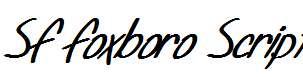 SF-Foxboro-Script-Bold-Italic