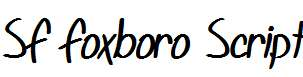 SF-Foxboro-Script-Bold