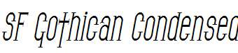 SF-Gothican-Condensed-Oblique