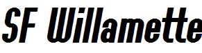 SF-Willamette-Bold-Italic