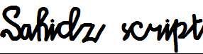 Sahidz-script