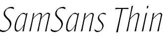 SamSans-ThinItalic