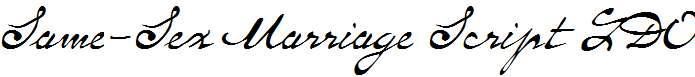 Same-Sex-Marriage-Script-LDO