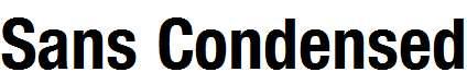 Sans-Condensed-BOLD