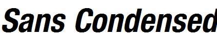Sans-Condensed-BOLDITALIC
