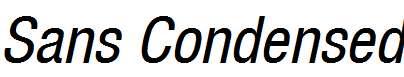 Sans-Condensed-ITALIC
