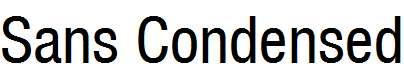 Sans-Condensed