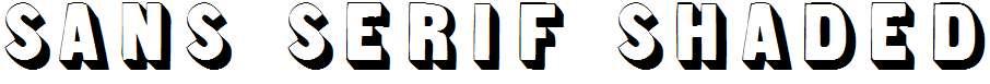 Sans-Serif-Shaded