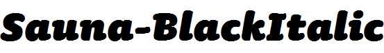 Sauna-BlackItalic