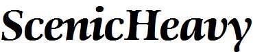 ScenicHeavy-RegularItalic