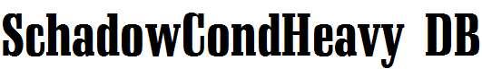 SchadowCondHeavy-Regular-DB