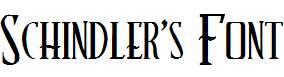 Schindler's-Font