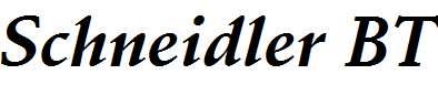 Schneidler-BT-Bold-Italic