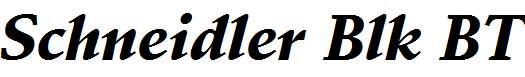 Schneidler-Black-Italic-BT