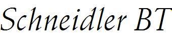 Schneidler-Italic-BT