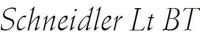 Schneidler-Light-Italic-BT