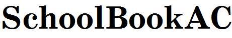 SchoolBookAC-Bold