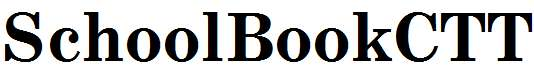 SchoolBookCTT-Bold
