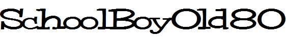 SchoolBoyOld80-Bold