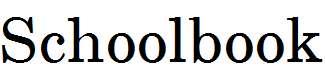 Schoolbook-Regular