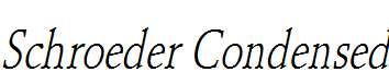 Schroeder-Condensed-Italic