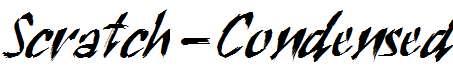 Scratch-Condensed-Italic