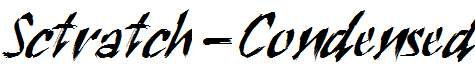 Sctratch-Condensed-Italic