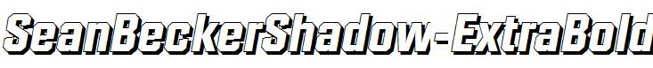 SeanBeckerShadow-ExtraBold-Italic