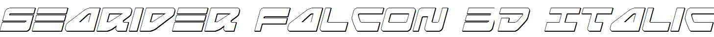 Searider-Falcon-3D-Italic