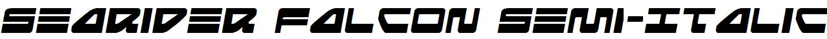 Searider-Falcon-Semi-Italic
