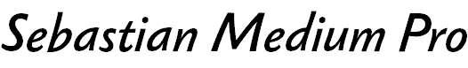 Sebastian Medium Pro Italic