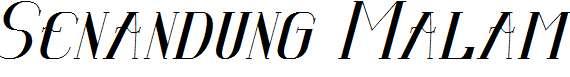 Senandung-Malam-Bold-Italic
