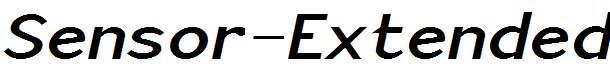 Sensor-Extended-Bold-Italic