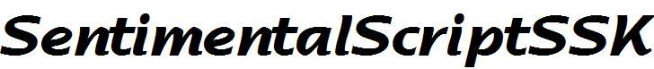 SentimentalScriptSSK-Bold