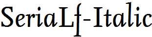 SeriaLf-Italic