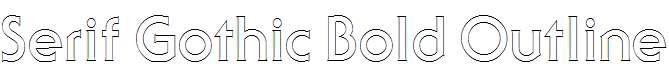 Serif-Gothic-Bold-Outline-Regular