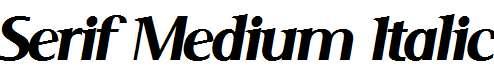 Serif-Medium-Italic