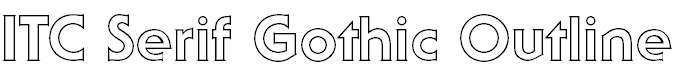 SerifGothicITCbyBT-BoldOutline