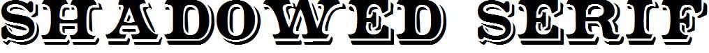 Shadowed-Serif