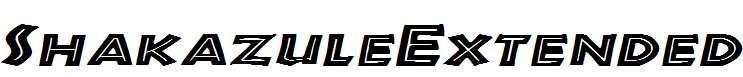 ShakazuleExtended-Italic