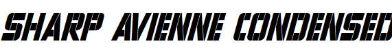 Sharp-Avienne-Condensed-Italic