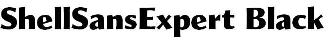 ShellSansExpert-Black